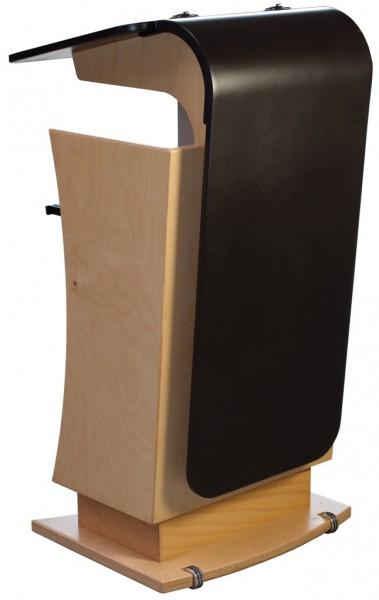 Rednerpult verstellbar - Buche/Schwarz lackiert