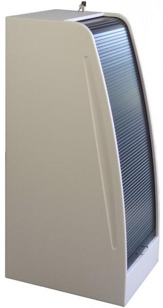 Studiorack Design 600tief mit Rolladen Kunststoff Grau